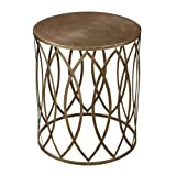 Sterling Industries Sutton-Accent Table in Gold Leaf For Sale