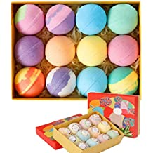 Bath Bombs - 12 Luxury Vegan Bubble Fizzies, Relaxation Bath Bomb Kit - Relaxing Spa Gifts For Women - Unique Birthday & Beauty Products