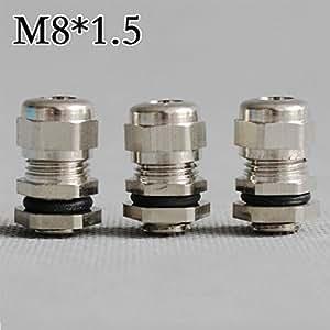 10pcs M8* 1.25Níquel Brass Waterproof Cable glands Connectors Full de Coupling