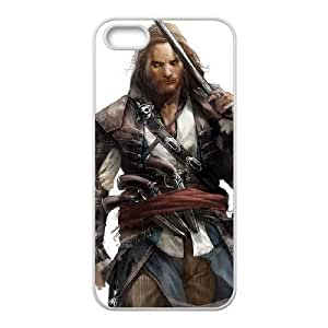 Assassins Creed Black Flag iPhone5s Cell Phone Case White yyfabb-158087