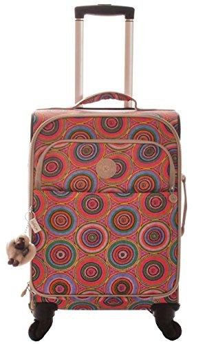 Kipling Parker S Trolley Bag, Lake Dusk Pink Print by Kipling