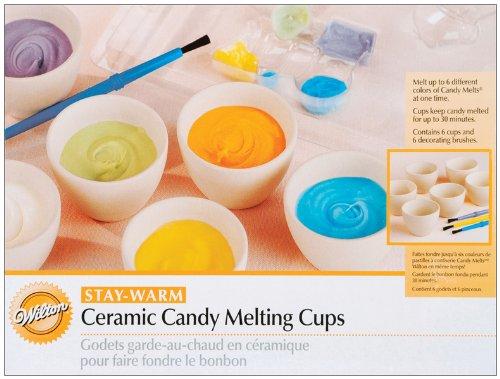 Ceramic Candy Melting Cups 6 Piece Set - 2'' x 1.5