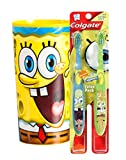 Nickelodeon Spongebob Squarepants Soft Manual Toothbrush Value Pack Plus Bonus Spongebob 22oz Mouthwash Rinse Cup!