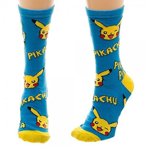 Nintendo Pokemon Pikachu Crew Socks