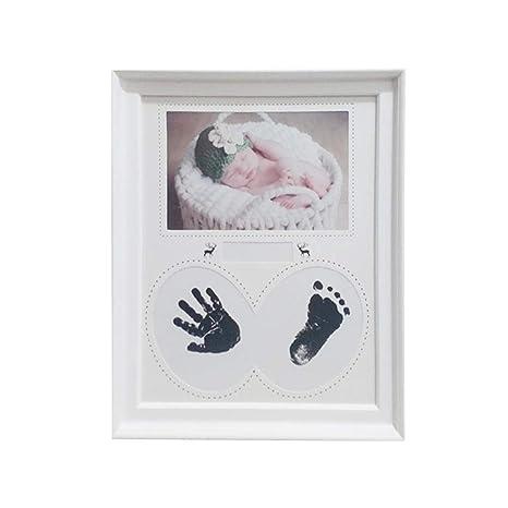 Marco de fotos, decoración para el hogar bebé huellas de las manos ...