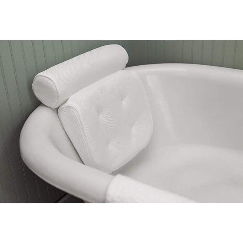 Bath Spa Cuscino-Extra spessa, morbida e grandi dimensioni bagno cuscino per vasca, Home Spa Supporto slittamento non per la testa, collo, schiena e spalle, Bagno capo Cuscino di sostegno 4 ventose forti G-Tree