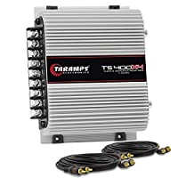 Módulo Amplificador Taramps TS400 x4 - 4 Canais - 400 Watts RMS + Cabo RCA 5 Metros