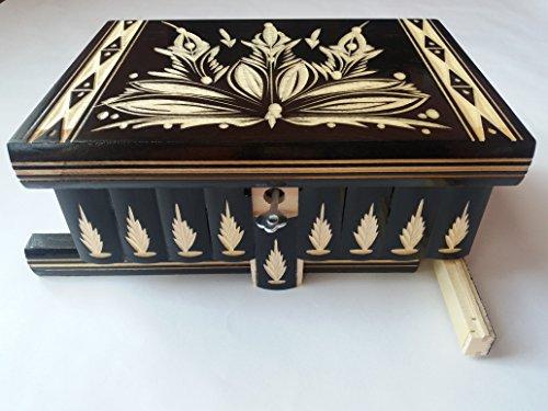 Caja puzzle grande enorme del rompecabezas de la caja negro, caja ...