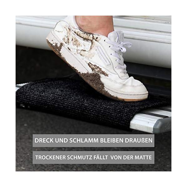 51 PrRvdfBL FAIRMO Wohnmobil Trittstufen Fußmatte - Premium Teppich - Zubehör individuell passend - Clean Step Wohnwagen - Camping…