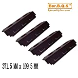 Bar.B.Q.S 98741-4pack Replacement Porcelain Steel BBQ Gas Grill Heat Plate / Heat Shield Part Select Gas Grill Models By Charbroil Kenmore Sears Gas Grill and Other
