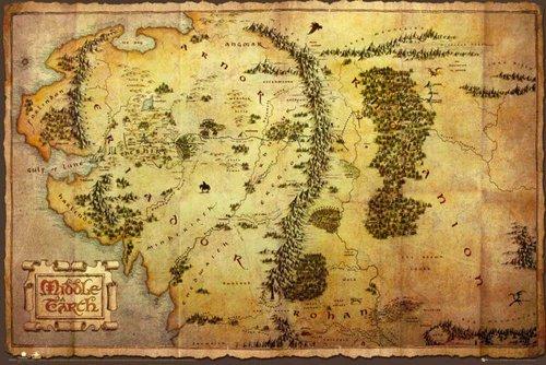 Mapa Tierra Media Hd.Amazon Com Empire Merchandising Poster The Hobbit Map Of