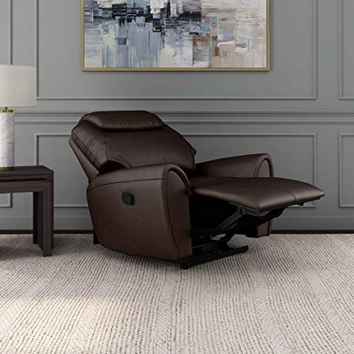 Durian Anton Leather 1 Seater Recliner  Brown   Anton/1