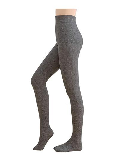 50b40a631 Jeffy   Retro Women s Opaque Cotton Tights PantyHose (Dark Grey ...