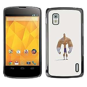 PC/Aluminum Funda Carcasa protectora para LG Google Nexus 4 E960 forearms bodybuilder funny man strong / JUSTGO PHONE PROTECTOR