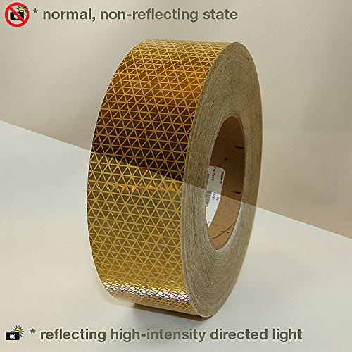 Oralite ( Reflexite ) v92-db-colors microprismatic retroreflective Conspicuityテープ ゴールド 2 in. x 50 yds. (50mm wide) 2 in. x 50 yds. (50mm wide)ゴールド B0198MF7Z8