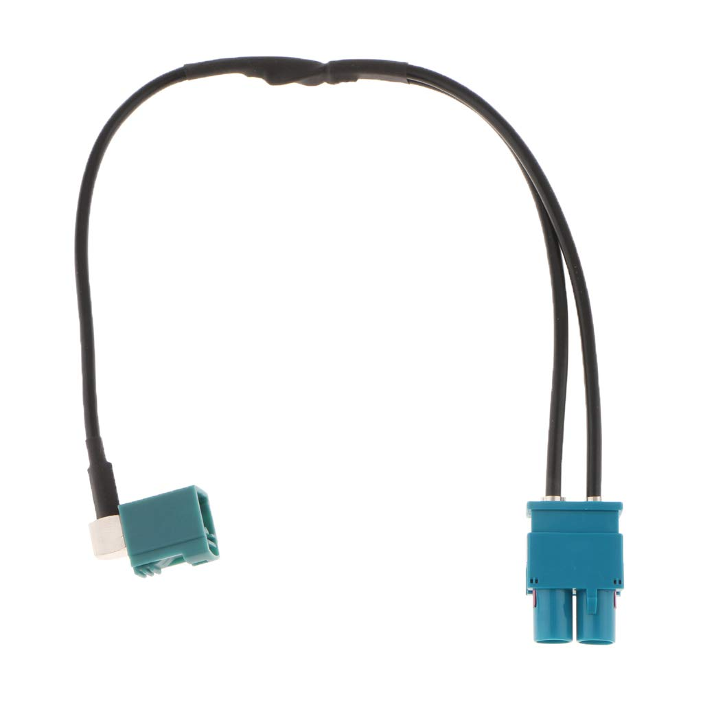V Autos F Fityle Dual Fakra auf DIN Antenne Adapter KFZ Stereo Antennenadapter F/ür 12-24