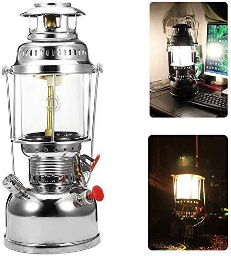Wlnnes 500W Camping Light Outdoor Lighting Pressure Kerosene Oil Lantern Lighting Indoor Ornaments Steam Light Outdoor Kerosene Lamp in The Special Light Lamp Type Retro Nostalgic Heating Light