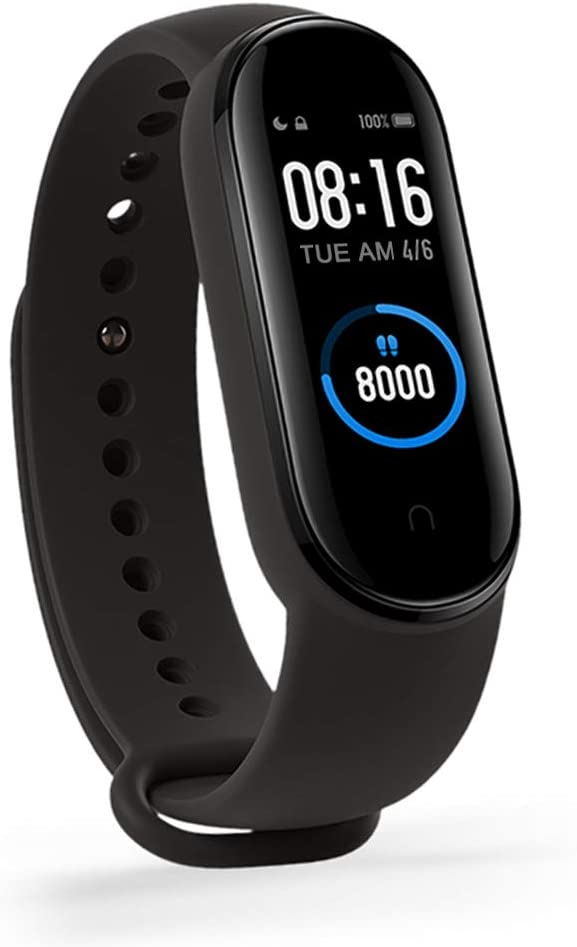 """Xiaomi MI Band 5 Pulsera de Actividad, Monitores de Actividad, Pantalla Fitness Tracker, Smartwatch100 Fondos de Pantalla temáticos, Bracelet 1.1""""Pantalla Dinámica Color, 50M a Prueba de Agua (Negro)"""