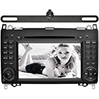 YINUO 7 Inch 2 Din Capacitive Touch Screen Car Stereo DVD Player In Dash GPS Navigation Bluetooth SWC Unit for Mercedes-Benz A-class W169 (2004-2012)/ Mercedes-Benz Viano,Backup Camera Included