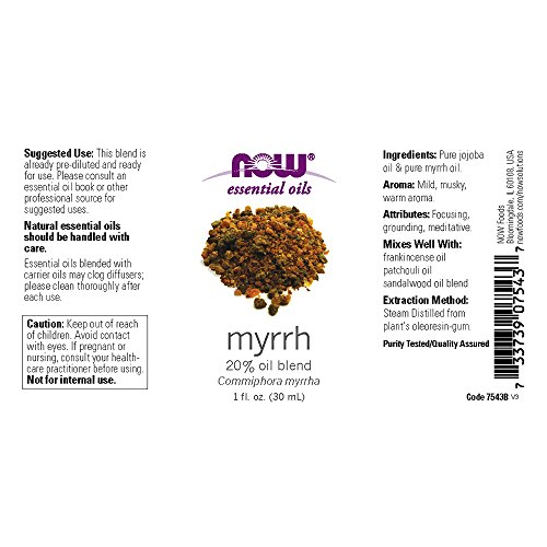 NOW Solutions Myrrh Oil Blend, 1-Ounce - incensecentral.us