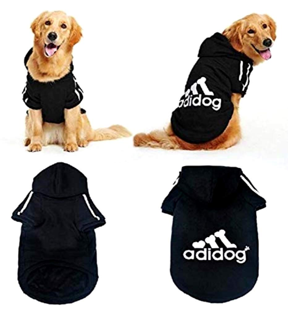 LEGISDREAM Sudadera con Capucha con Logotipo Adidog para Perros