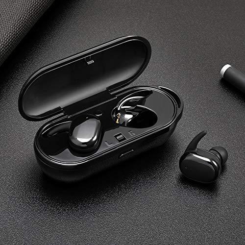 Bluetoothイヤホン&ヘッドホン - TWSワイヤレスミニBluetoothイヤホン Xiaomi Huawei モバイルステレオイヤホン スポーツイヤホン マイク付き ポータブル充電ボックス - Keu_20-1 PCs製 ブラック  ブラック B07MC2R6Y8