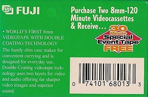 FUJI MP P6-120 DS N 8mm Videocassette Tapes 2 Pack w//Bonus