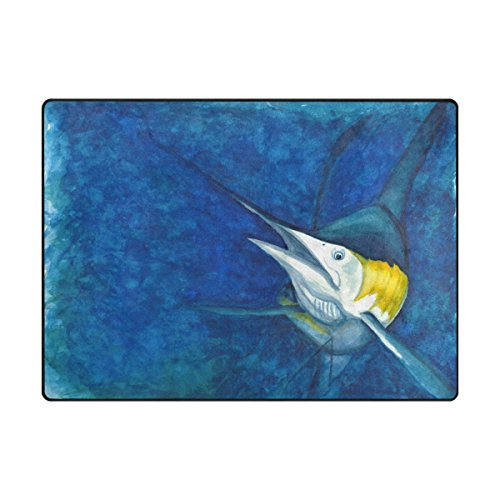 My Little Nest Underwater Ocean Marlin Design Area Rug 4'10