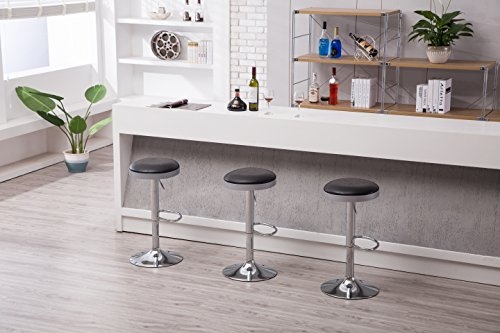 Boraam  Copley Backless Stool, 1-Pack, Adjustable Height, Black by Boraam (Image #8)