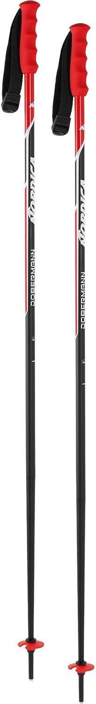 Nordica Herren 0B0602-741 Skistock Race Alu 18mm Standard Black//Red