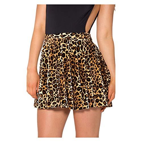 7df7b4e06f596 good Exquisite Sexy Cottage Plissee Leopardenrock Für Frauen Slim Mini  Printed Short Rock Plissee Frauen Plus