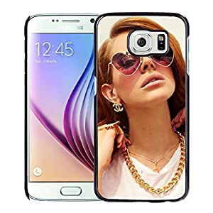 Beautiful Designed Cover Case With Lana Del Rey Girl Glasses Jewerly Hands For Samsung Galaxy S6 Phone Case