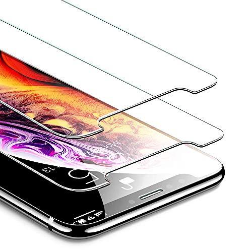 化学コインランドリー厳ESR iPhone X/XS ガラスフィルム 【旭硝子製5倍強化 2枚セット】 アイフォンXS ガラスフィルム 5.8インチ 強化ガラス 保護フィルム 業界最高硬度9H / 高光透過率 / 3D Touch/飛散防止/指紋防止