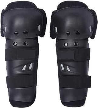 QCWN HXG11 Protection du genou et du tibia pour enfant et adulte flexiblesperméables à l'airréglables pour motomotocrosscourseVTT Noir