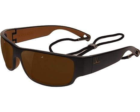 ffac76a6b4 Amazon.com  Vuarnet VL1621 0001 (Black - Brown with Brown lenses ...