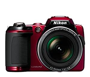 Nikon COOLPIX L120 14.1 MP Digital Camera with 21x NIKKOR Wide-Angle Optical Zoom Lens and 3-Inch LCD (Red) (OLD MODEL)