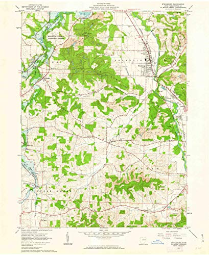 (YellowMaps Strasburg OH topo map, 1:24000 Scale, 7.5 X 7.5 Minute, Historical, 1961, Updated 1963, 26.9 x 22 in - Paper)