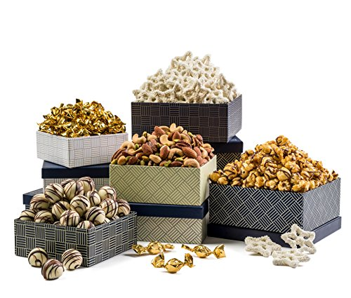 Benevelo Gifts Gourmet Love 5-Tier Tower Assortment of Candies & Nuts incl. (Gourmet Gift Tower)