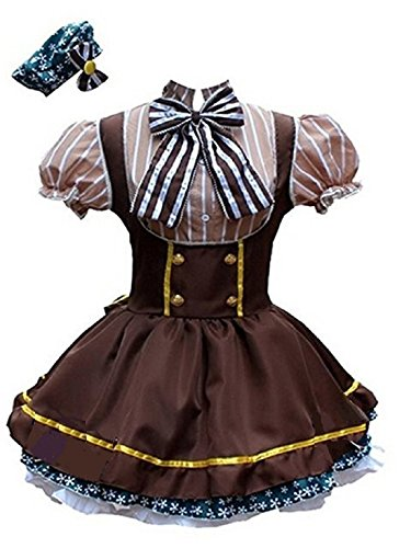 ShonanCos Love Live Hanayo Koizumi Style Cosplay Costume Maid Dress (Brown)