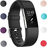 GEAK Fitbit Charge 2 Bands, Classic Sports Replacement Bands for Fitbit Charge 2, Large and Small