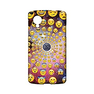 Google Nexus 5 Emoji Phone Case Cover,Colorful Fashion Emoji Face Space Smiley Custom 3D Snap on Case for Google Nexus 5