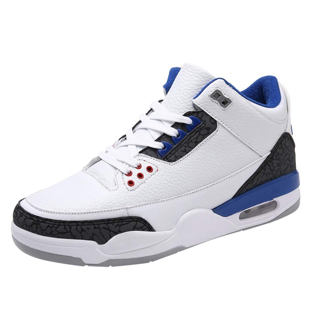 Mens Air Basketball Shoes Outdoor Sports Casual Fashion Male Sneakers Breathable Shock-Absorbing Protective Ankle by Dacawin-Men Sneakers