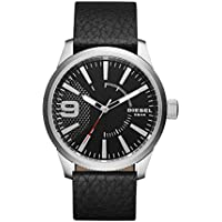 Diesel Men's 'Rasp' Quartz Stainless Steel and Leather Casual Watch, Color:Black (Model: DZ1766)