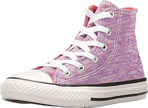 Converse Chuck Taylor All Star High Girls fashion-sneakers 358641F_3 - Bright Violet/Sunblush/White]()