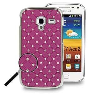 """I8160 Galaxy Ace 2 : Caso de la cubierta protectora de silicona púrpura """" con incrustaciones de joyas """""""