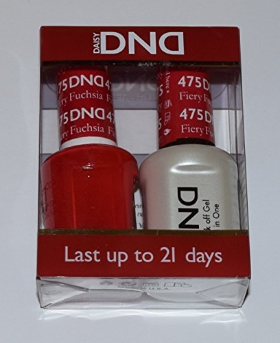 DND Gel & Matching Polish Set #475 - Fiery Fuchsia. Buy 5 any colors get 1 Diamond super fast drying top coat 0.5 oz Free by DND Gel 475 Coat