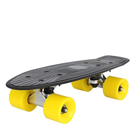 1-1 Skateboard Monopatín de Pescado para Niños Chicas Muchachos Adulto 4 Ruedas 60 mm