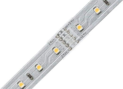 Paulmann 70618 MaxLED Clip-to-Clip Verbinder f/ür LED Strip 2er-Pack Zubeh/ör f/ür unbeschichtete Stripes zum Wiederverbinden abgeschnittener Strips