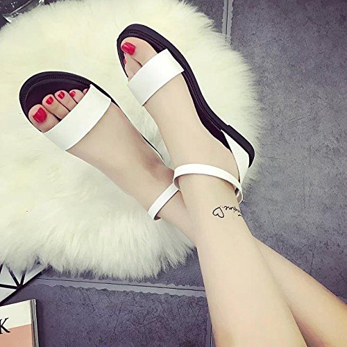 GTVERNH-Schwangere Frauen und Schülerinnen und Schüler Im Sommer Sandalen mit flachem Boden Die koreanische Version des Weiblichen Schuhe Sandalen Tide Schuhe