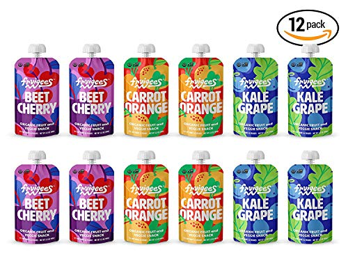 - Fruigees Superfood Smoother than a Smoothie Squeeze Snack Pouches | Organic • Non-GMO • Kosher • Vegan • Gluten Free | Made from 100% Fruit & Veggie Juice | 12 ct Variety Pack …